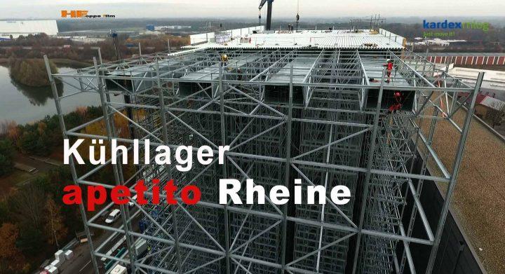 KARDEX ein Unternehmen im Bereich Lagertechnik, Filmproduktion Entstehung eines Tiefkühllagers auf dem Betriebsgelände der Fa. apetito Rheine / Kreis Steinfurt