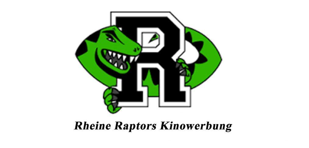 Kino Sport Werbung der Football Mannschaft Rheine Raptors
