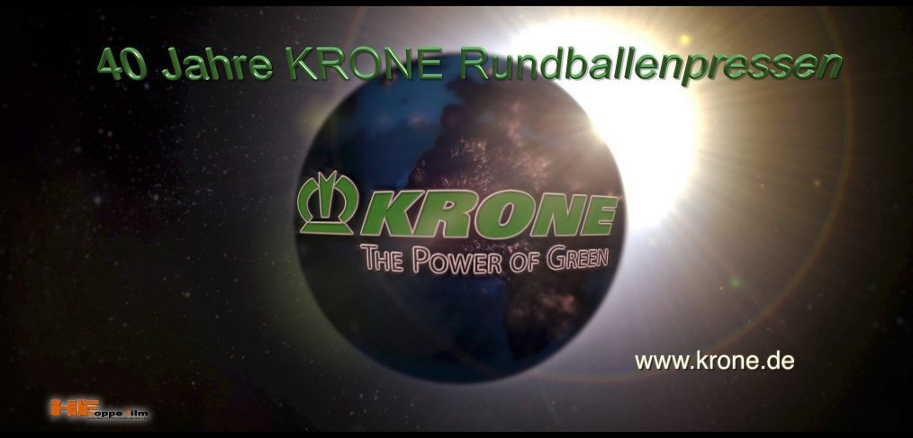 Video über 40 Jahre Rundballenpressen der Firma Krone in Spelle / Emsland